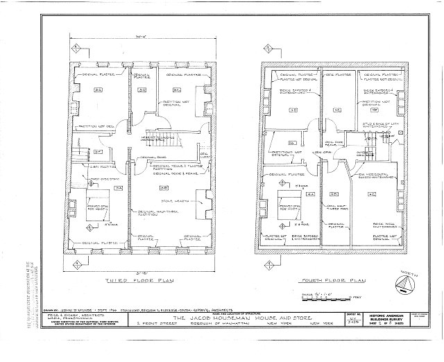 HABS NY,31-NEYO,127- (sheet 2 of 5) - Jacob Houseman House & Office, 2 Front Street, New York, New York County, NY