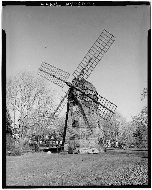 1.  WEST ELEVATION - Beebe Windmill, Hildreath Lane & Ocean Avenue (moved several times), Bridgehampton, Suffolk County, NY