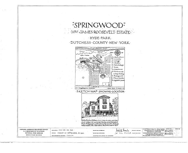 HABS NY,14-HYP,5- (sheet 0 of 35) - Springwood, Hyde Park, Dutchess County, NY