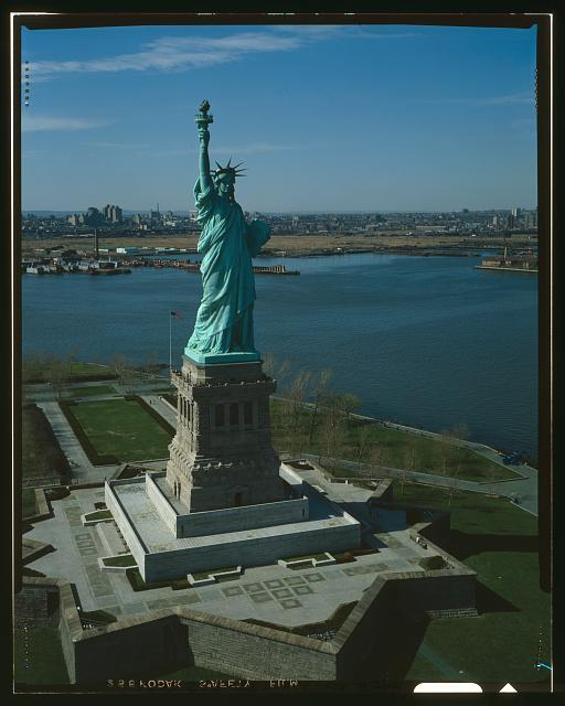 232.  GENERAL VIEW OF STATUE LOOKING NORTHWEST  - Statue of Liberty, Liberty Island, Manhattan, New York, New York County, NY
