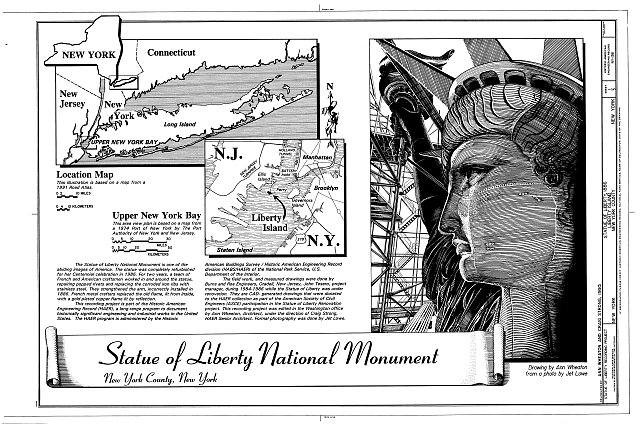 Cover Sheet - Statue of Liberty, Liberty Island, Manhattan, New York, New York County, NY