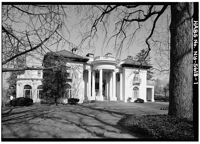 1.  VIEW OF EAST ELEVATION - Villa Lewaro, North Broadway, Irvington, Westchester County, NY