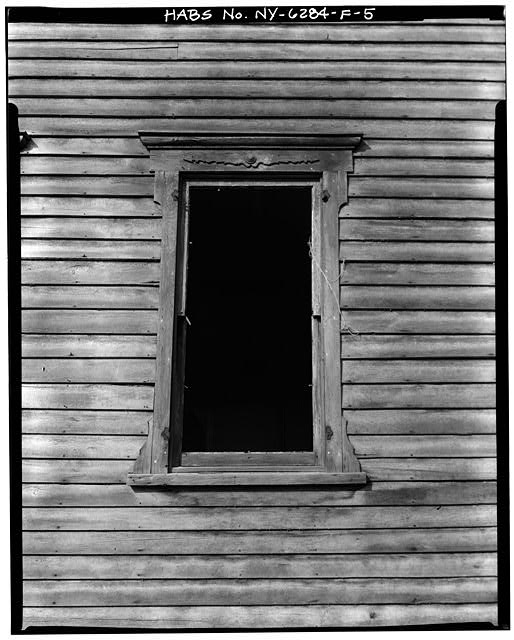 5.  WINDOW FRAME DETAIL - Simpsonville, 12 Power Avenue (House), Hudson, Columbia County, NY