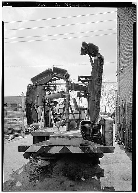 42.  HEADQUARTERS AND MAINTENANCE BUILDING, TILE CLEANING TRUCK - Holland Tunnel, Beneath Hudson River between New York & Jersey City, New York, New York County, NY