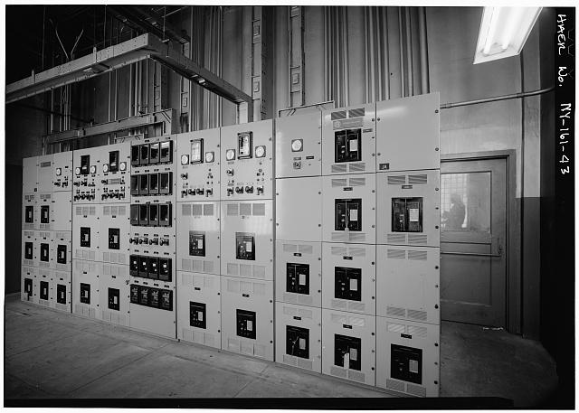 43.  CIRCUIT BREAKER PANEL, LOCATION UNKNOWN - Holland Tunnel, Beneath Hudson River between New York & Jersey City, New York, New York County, NY