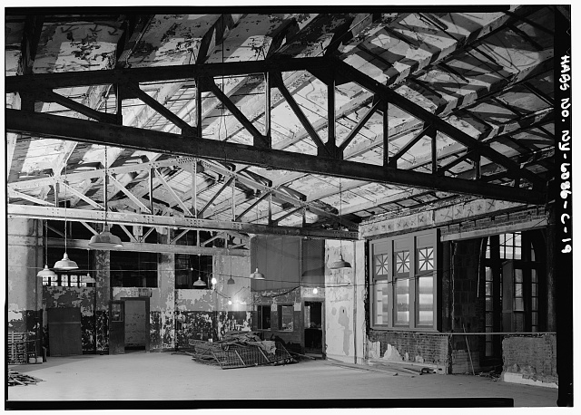 19.  LARGE NORTHEAST ROOM, FIRST FLOOR, WEST CORNER - Ellis Island, Main Building, New York Harbor, New York, New York County, NY