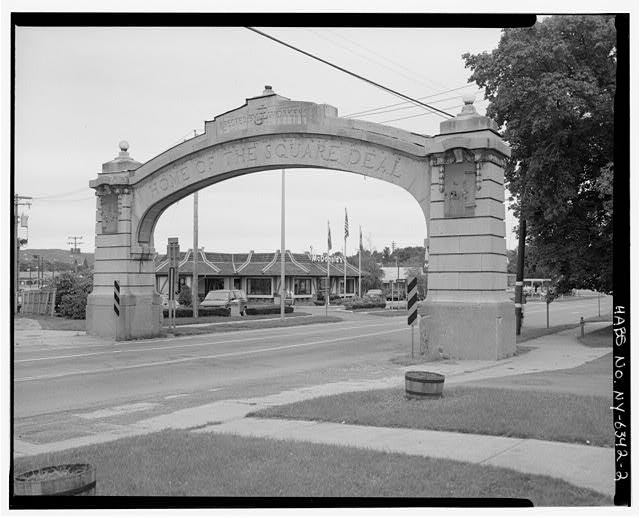  - Endicott-Johnson Workers Arch, Approximately 250&#39; east of intersection of Bridge Street &amp; Route 17c/Main Street, Endicott, Broome County, NY