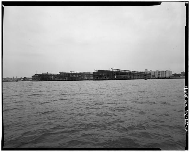 1.  View from south-piers 4, 3, and 2 - Brooklyn Army Supply Base, Pier 2, Brooklyn, Kings County, NY