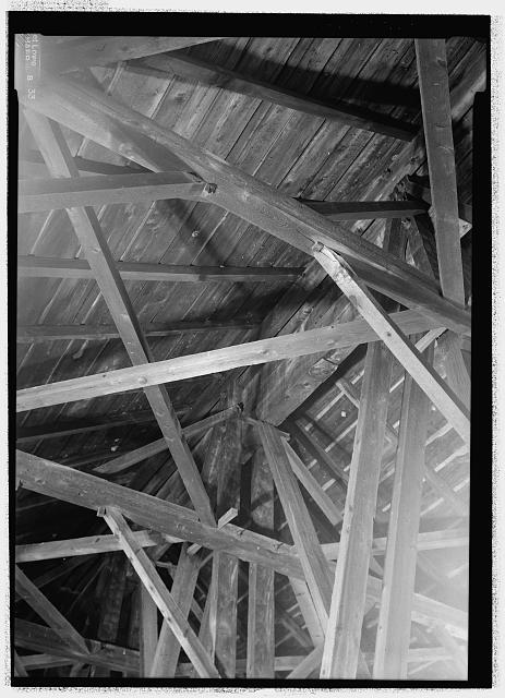 FRAMING DETAIL, CENTER OF ARCH. - Blenheim Bridge, Spanning Schoharie Creek, River Road (now bypassed), North Blenheim, Schoharie County, NY
