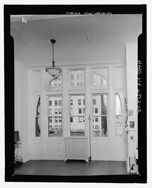 Room 405, West Elevation Window (with measuring stick) - Corbin Building, 11 John Street, New York, New York County, NY
