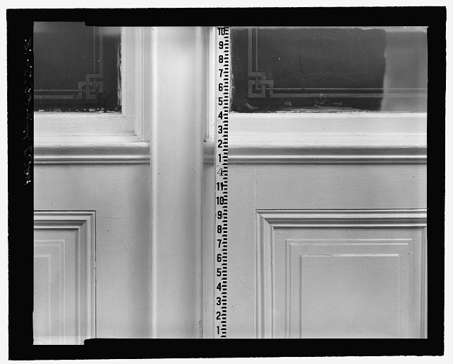 Room 706, Interior Partition, detailed close-up (with measuring stick) - Corbin Building, 11 John Street, New York, New York County, NY