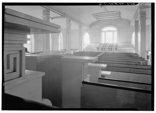 16. Historic American Buildings Survey, Carl F. Waite, Photographer April, 1934 INTERIOR, GENERAL VIEW LOOKING WEST, SECOND FLOOR - Kirtland Temple (Mormon), 9020 Chillicoth Road, Kirtland, Lake County, OH