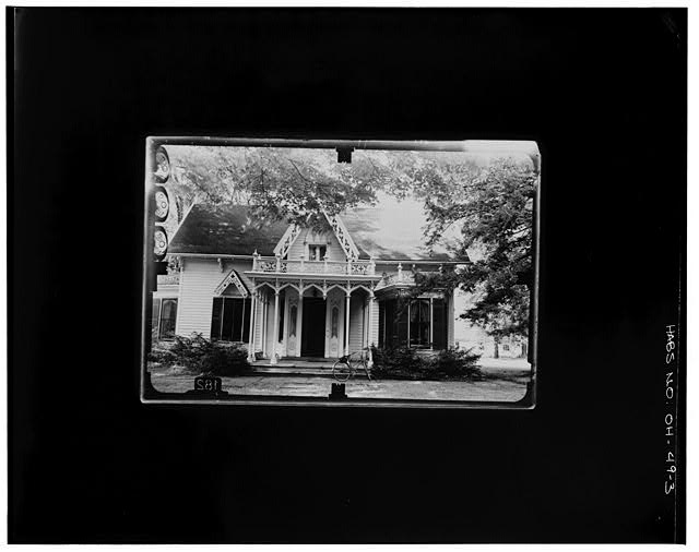 3.  SOUTH ELEVATION Copy photograph of photogrammetric plate LC-HABS-GS07-T-935-600R. - Kenyon College, Peter Neff Cottage, Wiggin Street, Gambier, Knox County, OH
