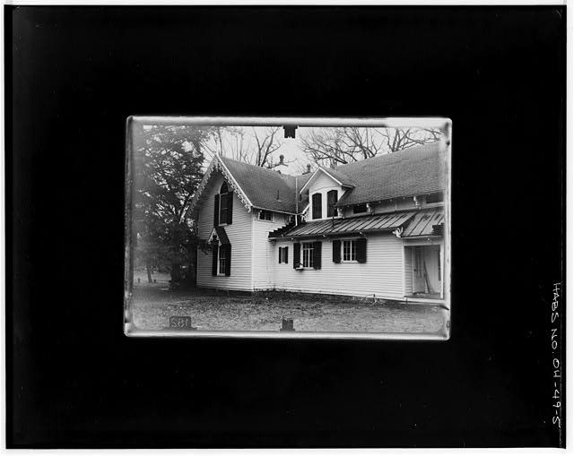 5.  NE ANGLE Copy photograph of photogrammetric plate LC-HABS-GS07-T-935-602L. - Kenyon College, Peter Neff Cottage, Wiggin Street, Gambier, Knox County, OH