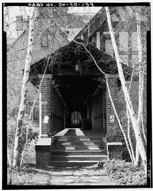 139.  LONG PORCH, NORTH - Stan Hywet Hall, 714 North Portage Path, Akron, Summit County, OH