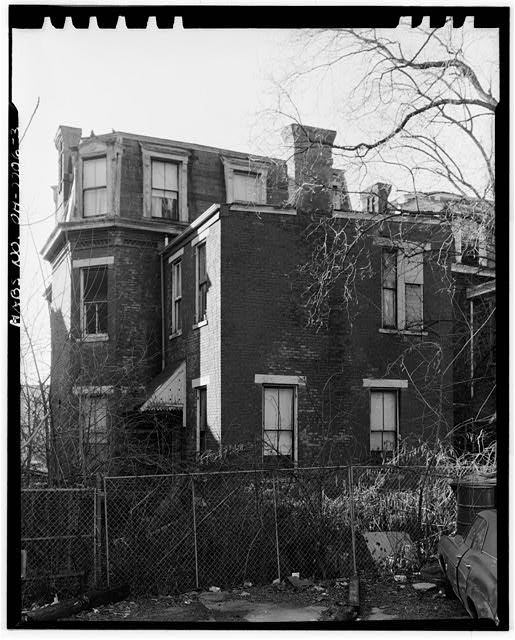 3.  NORTH (REAR) AND WEST (SIDE) ELEVATION - Cooksey House, 856 Lincoln Avenue, Cincinnati, Hamilton County, OH