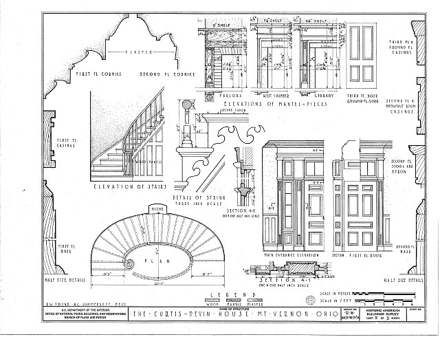 HABS OHIO,42-MOVER,1- (sheet 5 of 5) - Curtis-Devin House, 101 North Main Street, Mount Vernon, Knox County, OH