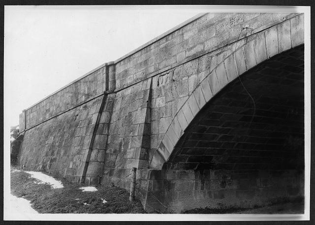 Detail of bridge - Bridge, Middlebourne, Guernsey County, OH