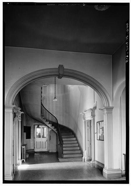 4.  Historic American Buildings Survey, Edgar D. Tyler, Photographer March 5, 1934 MAIN HALL LOOKING NORTH. - Marine Hospital, Third & Kilgour Streets, Cincinnati, Hamilton County, OH