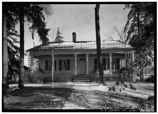 1.  Historic American Buildings Survey, Carl F. Waite, Photographer April, 1934 NORTH ELEVATION. - Edgerton House, Buckland Avenue, Fremont, Sandusky County, OH
