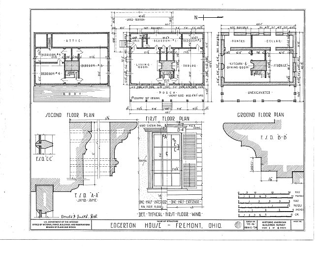 HABS OHIO,72-FREMO,2- (sheet 1 of 4) - Edgerton House, Buckland Avenue, Fremont, Sandusky County, OH