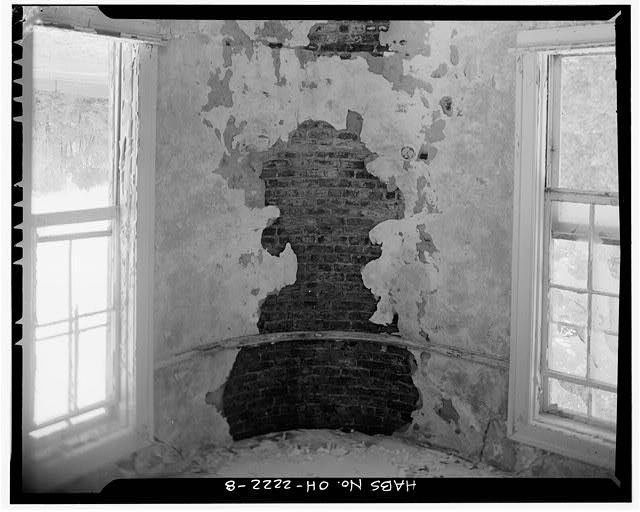 8.  EMPLOYEE/STAFF LUNCHROOM, SECOND FLOOR, ROUNDED CORNER, LOOKING NORTHEAST - Southern Ohio Lunatic Asylum, 2335 Wayne Avenue, Dayton, Montgomery County, OH