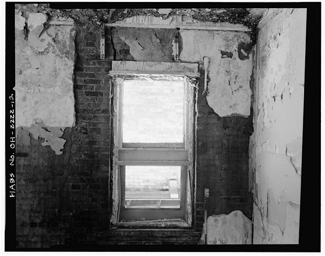 12.  KITCHEN WING, SECOND FLOOR, WALL AND WINDOW DETAIL, LOOKING EAST - Southern Ohio Lunatic Asylum, 2335 Wayne Avenue, Dayton, Montgomery County, OH