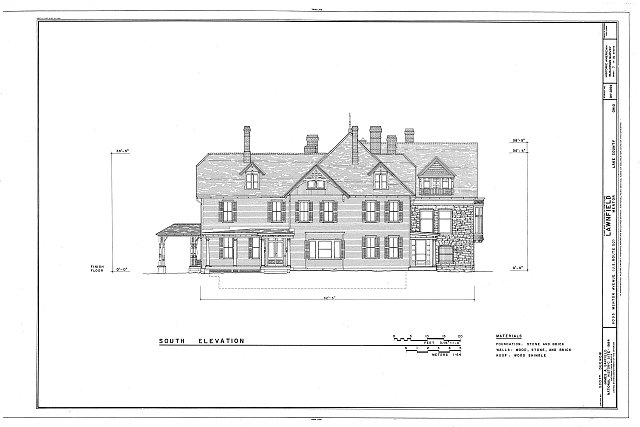 HABS OHIO,43-MENT,2- (sheet 7 of 14) - Lawnfield, 8095 Mentor Avenue (U.S. Route 20), Mentor, Lake County, OH