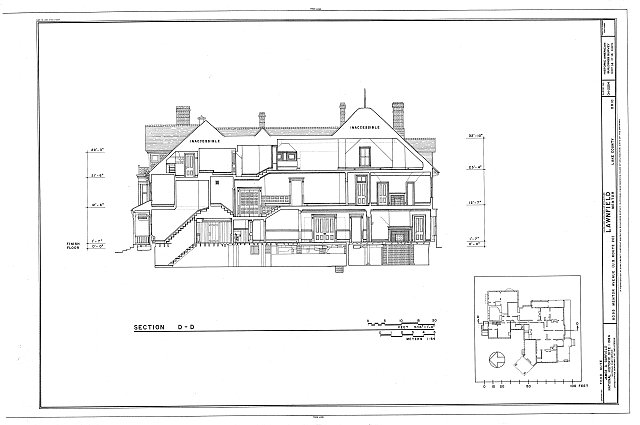 HABS OHIO,43-MENT,2- (sheet 14 of 14) - Lawnfield, 8095 Mentor Avenue (U.S. Route 20), Mentor, Lake County, OH