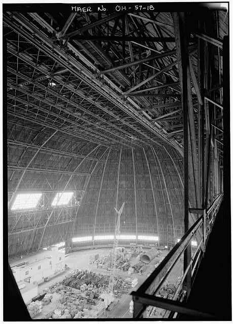 18.  Interior, looking North. - Goodyear Airdock, 1210 Massillon Road, Akron, Summit County, OH
