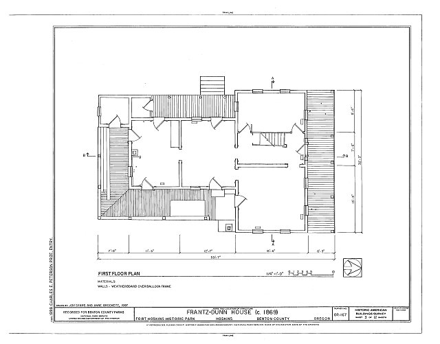 HABS ORE,2-HOSK,2- (sheet 3 of 12) - Frantz-Dunn House, Hoskins, Benton County, OR