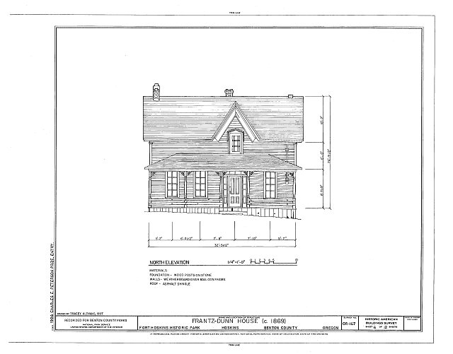 HABS ORE,2-HOSK,2- (sheet 6 of 12) - Frantz-Dunn House, Hoskins, Benton County, OR