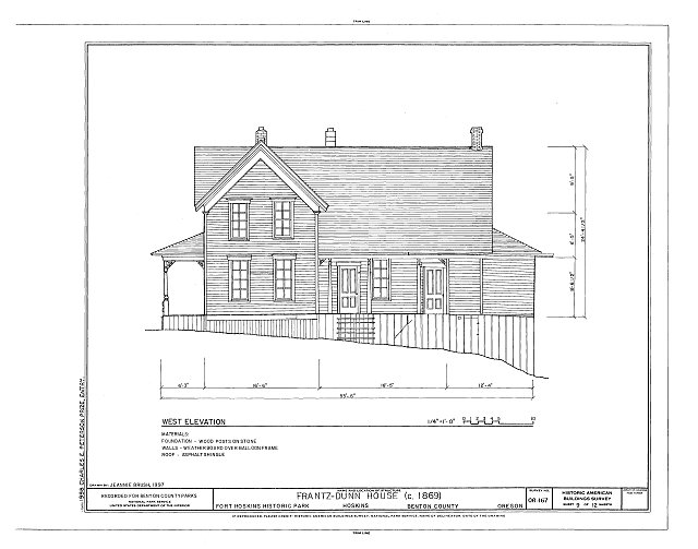 HABS ORE,2-HOSK,2- (sheet 9 of 12) - Frantz-Dunn House, Hoskins, Benton County, OR