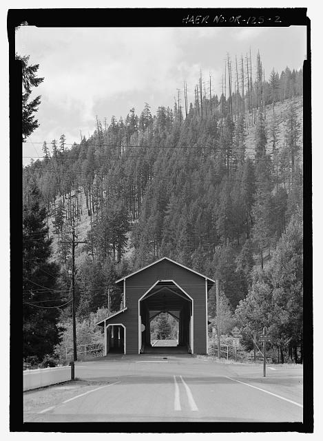 EAST PORTAL ELEVATION - Office Bridge, Spanning North Fork of Middle Fork Willamette River, Old Mill Road (former logging road), Westfir, Lane County, OR