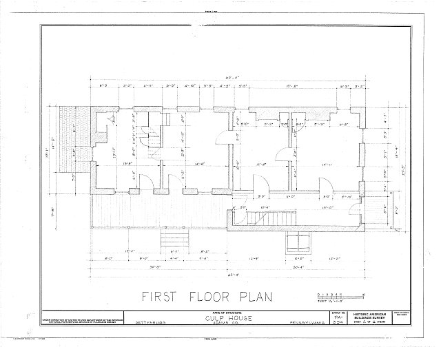 HABS PA,1-GET,3- (sheet 2 of 2) - Culp Farm House, Gettysburg, Adams County, PA
