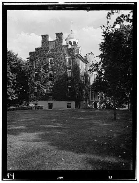 1.  Historic American Buildings Survey, Frederick Tilberg, Photographer July, 1950 SOUTH ELEVATION. - Lutheran Theological Seminary,Main Building, Gettysburg, Adams County, PA