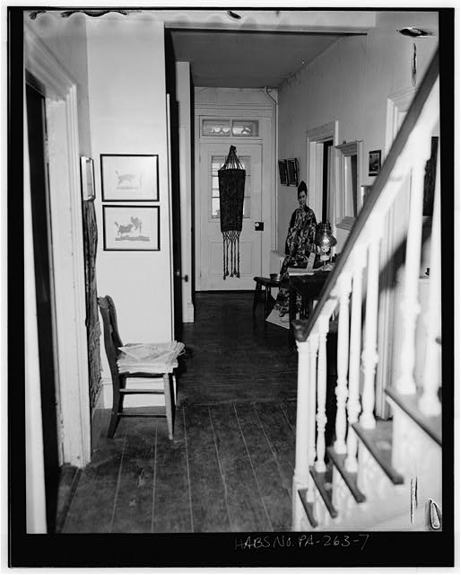 7.  Fall, 1975 FIRST-FLOOR HALLWAY LOOKING WEST - William Penn Tavern, Gruber Road & State Route 183 (Penn Township), Mount Pleasant, Berks County, PA
