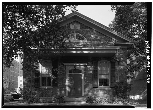 1.  Historic American Buildings Survey, Cervin Robinson, Photographer September, 1958 EAST (FRONT) ELEVATION. - Reading Friends Meeting, North Sixth Street, Reading, Berks County, PA