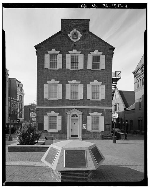 4.  Dan Eisenhart, photographer, summer 1981, east facade - Old City Hall, Penn Square, Lancaster, Lancaster County, PA