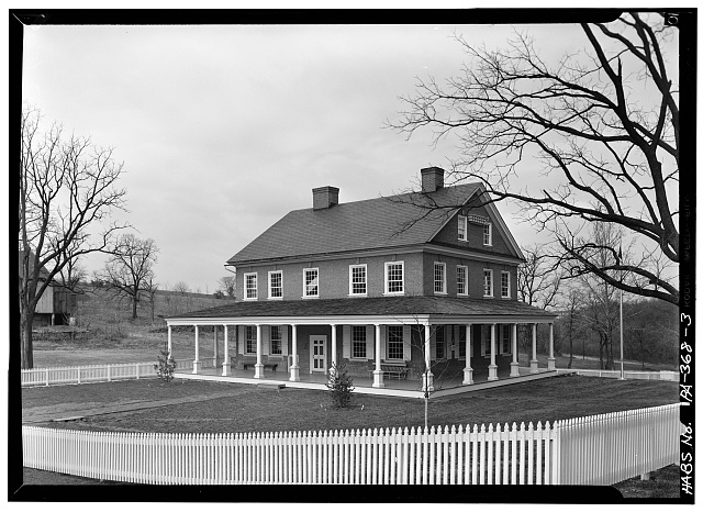 3.  REAR SOUTH ELEVATION WITH EAST ELEVATION AND PORCHES, FROM SOUTHEAST - Rockford, Rock Ford Road (West Lampeter Township), Lancaster, Lancaster County, PA