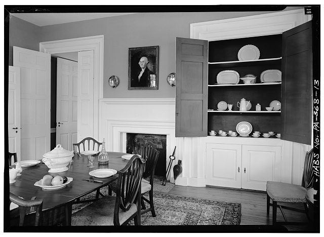13.  DINING ROOM - Rockford, Rock Ford Road (West Lampeter Township), Lancaster, Lancaster County, PA