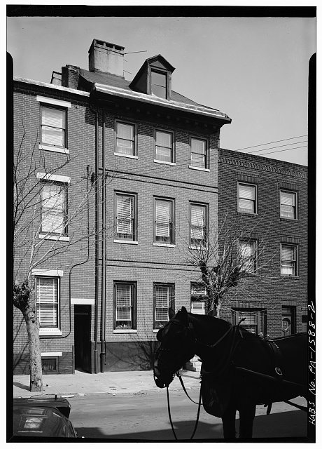 2.  GENERAL VIEW; FRONT ELEVATION (partially blocked) - 109 Kenilworth Street (House), Philadelphia, Philadelphia County, PA