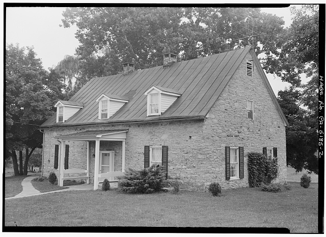 2.  NORTH REAR AND WEST SIDE - Martin Schultz House, Emig Street, near Hellam Street, Hallam, York County, PA
