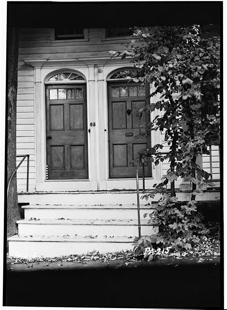2.  Historic American Buildings Survey, Stanley Jones, Photographer October 6, 1936 MAIN ENTRANCE. - Sylvanus Mulford House, 65 Church Street, Montrose, Susquehanna County, PA