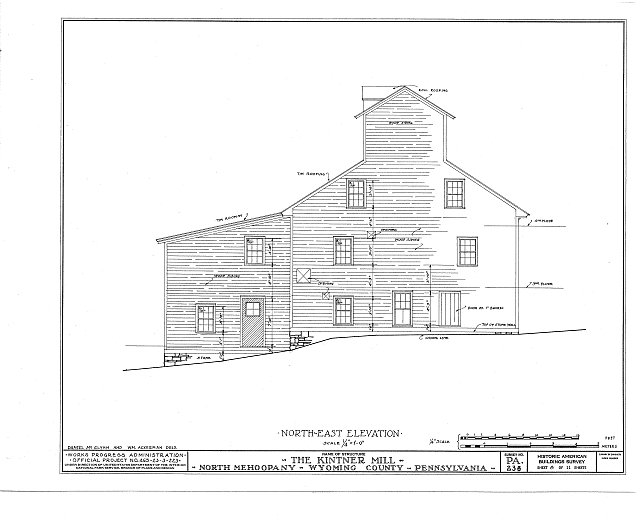 HABS PA,66-MEHOPN,1- (sheet 8 of 11) - Kintner Mill, North Mehoopany, Wyoming County, PA