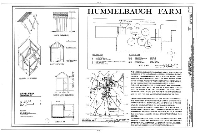 HABS PA,1-GET.V,15- (sheet 1 of 1) - Hummelbaugh Farm, Pleasonton Avenue, Gettysburg, Adams County, PA