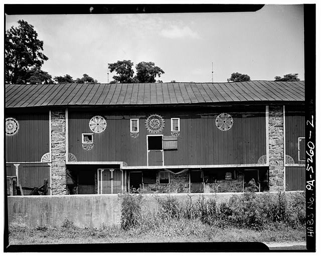 2.  ORIGINAL BARN (CENTRAL SECTION OF BUILDING) - Decorated Barn, State Route 73 (Oley Township), Oley, Berks County, PA