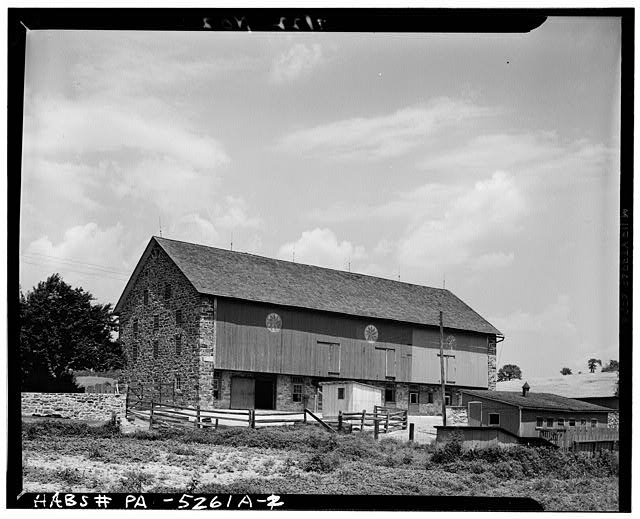 2.  STONE END - Guy Hoffman Farm, Barn, Oley, Berks County, PA