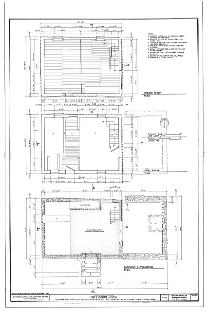 HABS PA,1-GET.V,16- (sheet 2 of 5) - William Patterson House, Taneytown Road (Route 134), Pleasonton Avenue vicinity, Gettysburg, Adams County, PA