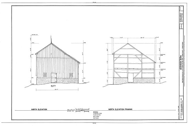 HABS PA,1-GET,8A- (sheet 5 of 12) - Bushman Barn, Business U.S. 15, Emmitsburg Road, Gettysburg, Adams County, PA